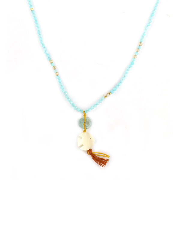 Chan Luu Carved Fish Amazonite Necklace