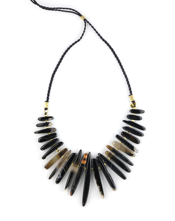 Chan Luu Black Agate Tribal Necklace