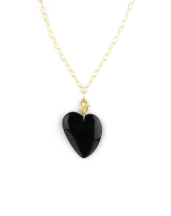 Chan Luu Black Heart Necklace