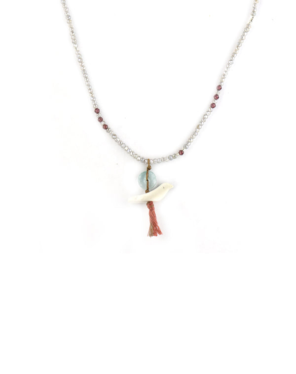 Chan Luu Carved Bird Labradorite Necklace
