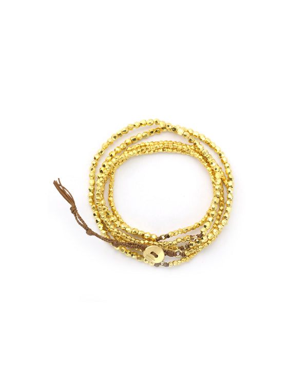 Chan Luu Yellow Gold Naked Wrap