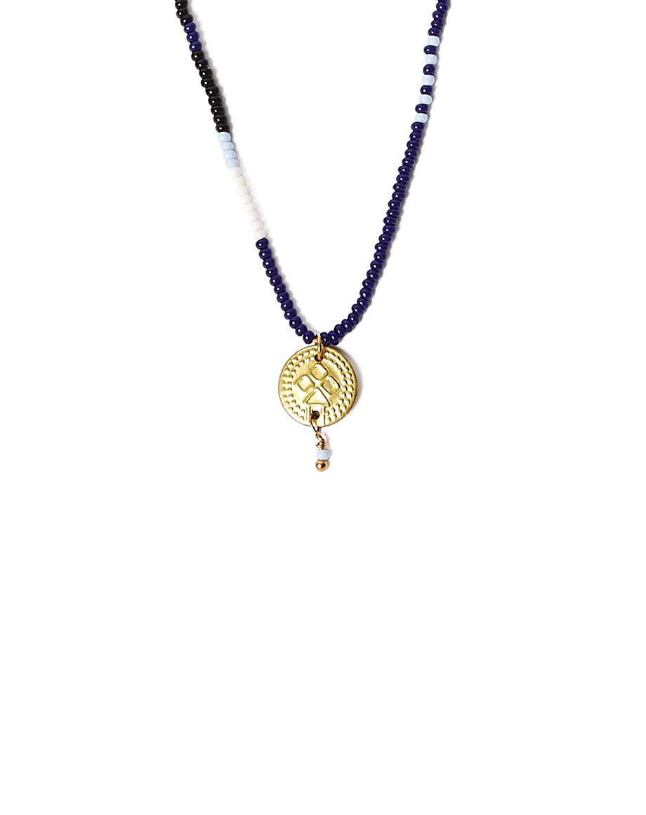 Chan Luu Indigo Seed Bead Necklace