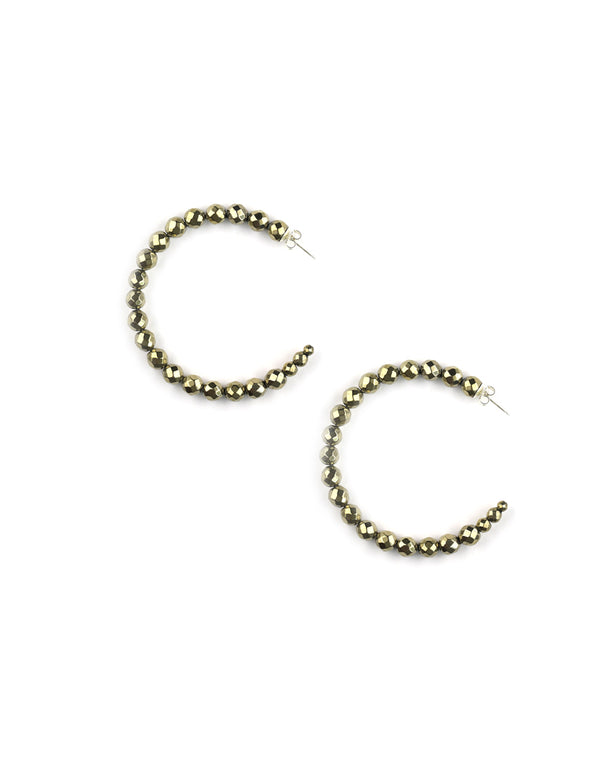 Chan Luu Large Pyrite Hoops