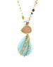 Chan Luu Long Amazonite Druzy Necklace