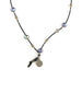 Chan Luu Peacock Blue Pearl Leather Necklace
