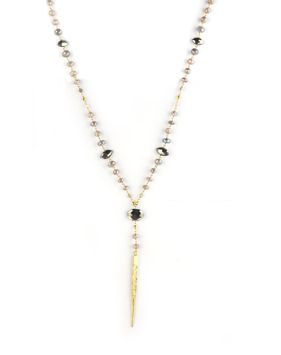 Chan Luu Pink Moonstone Dagger Necklace