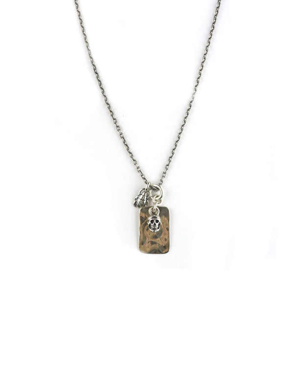 Chan Luu Silver Skull Charm Necklace