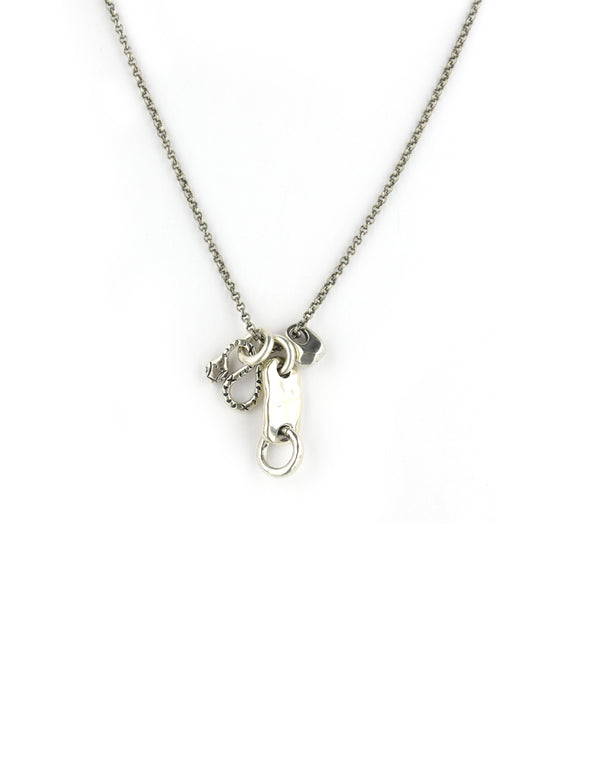 Chan Luu Silver Snake Charm Necklace