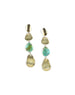Chan Luu Long Hammered Silver & Turquoise Earrings