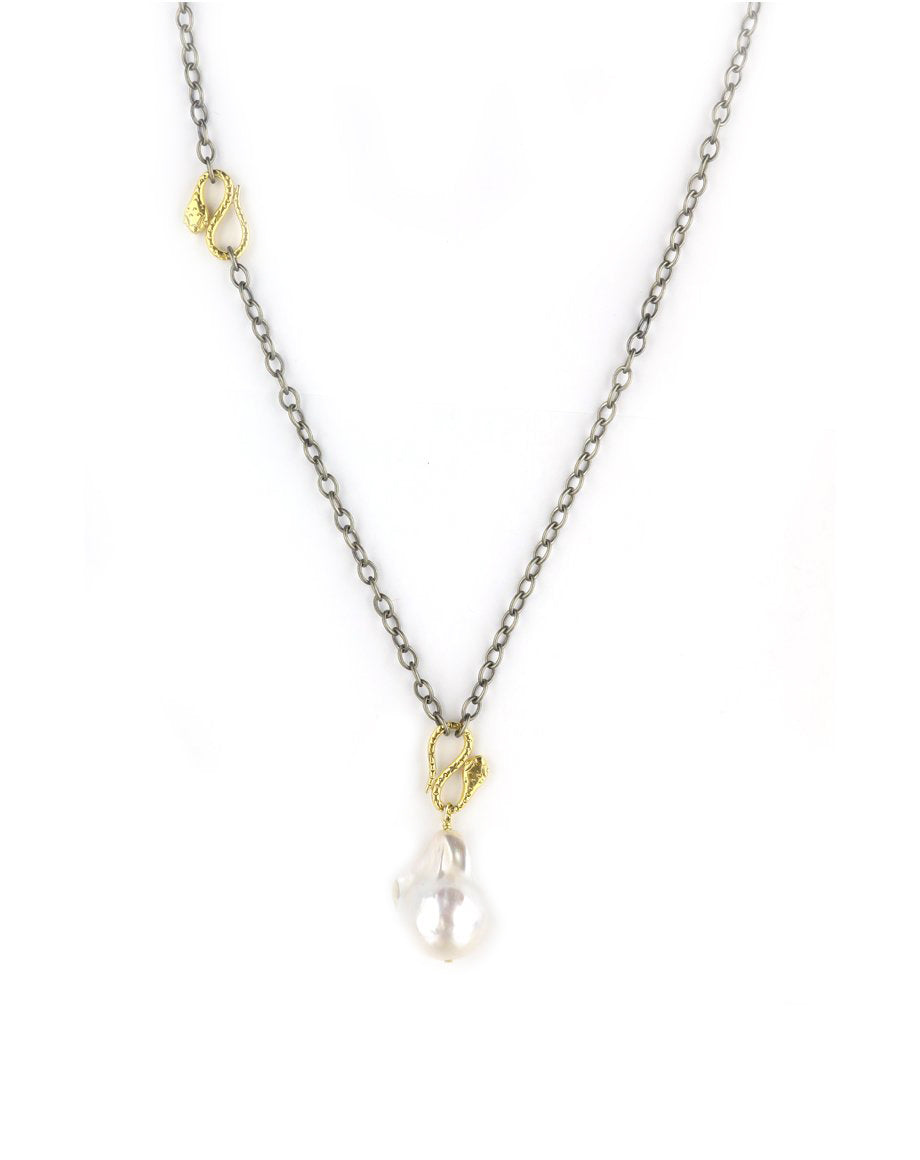 Chan Luu Pearl Snake Necklace