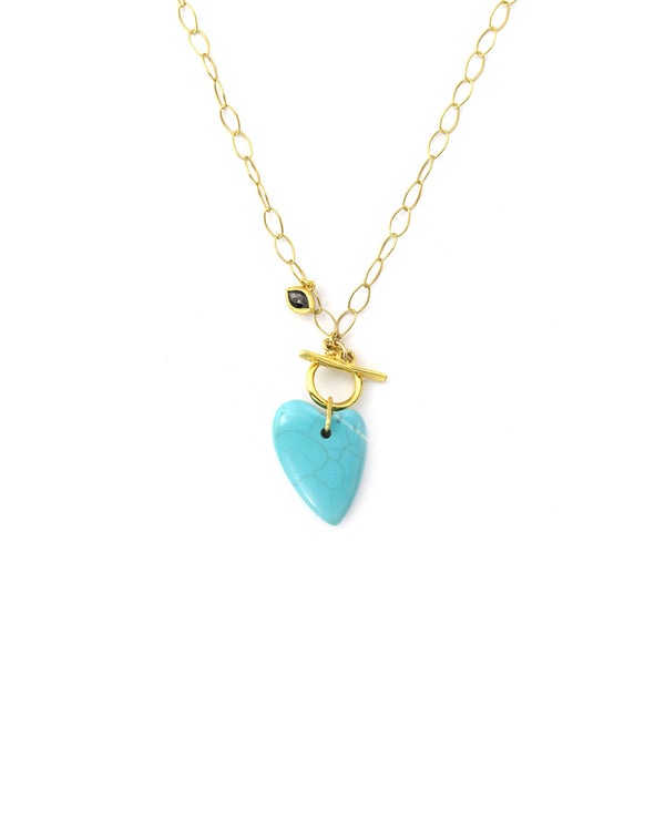 Exclusive Chan Luu Turquoise Heart Charm Necklace