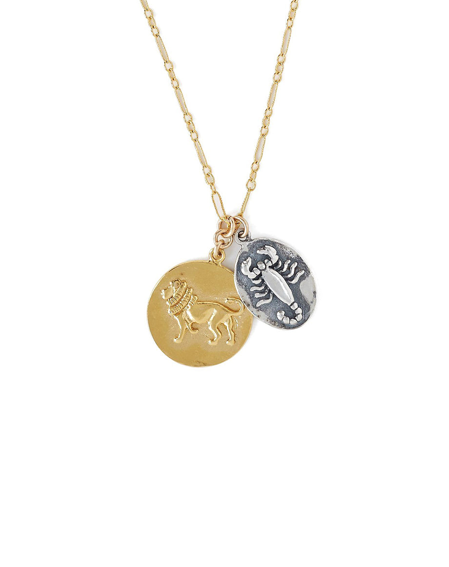 Chan Luu Gold And Silver Mix Zodiac Charm Necklace
