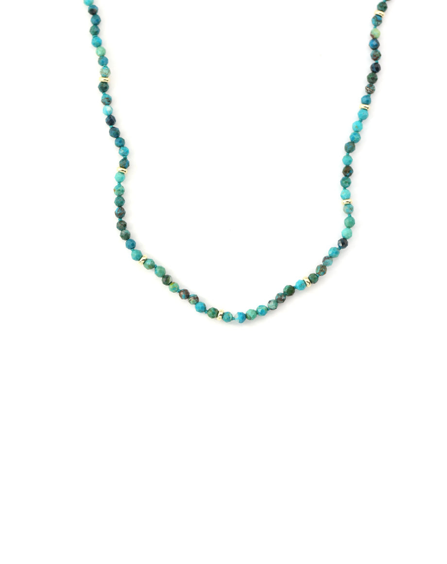 Beaded Chrysocolla Necklace