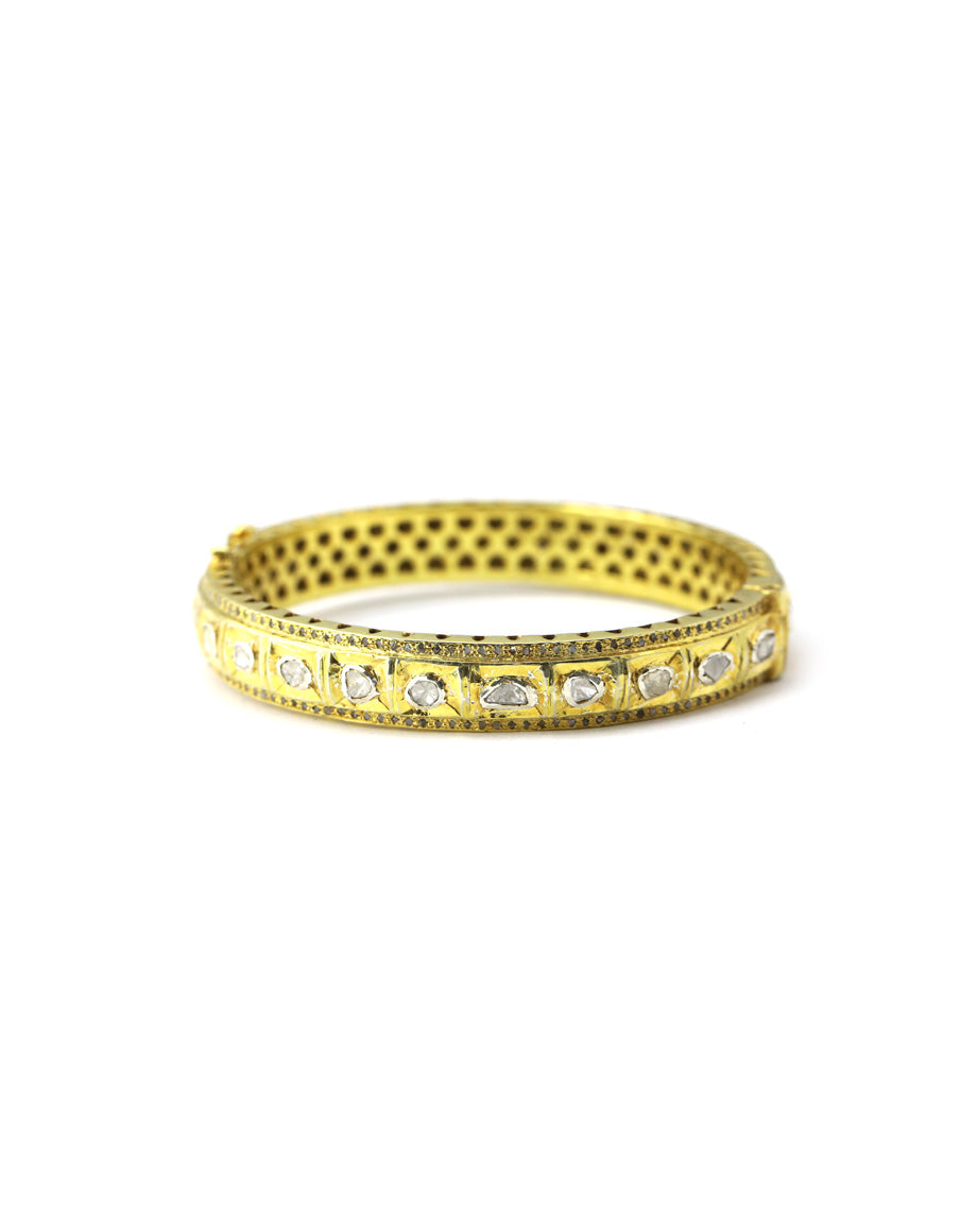 Classic Polki Diamond Bangle