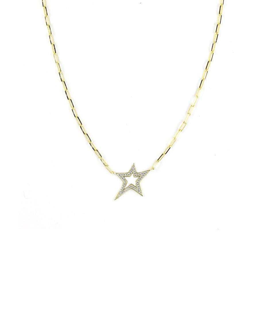 Crystal Cut Out Star Necklace