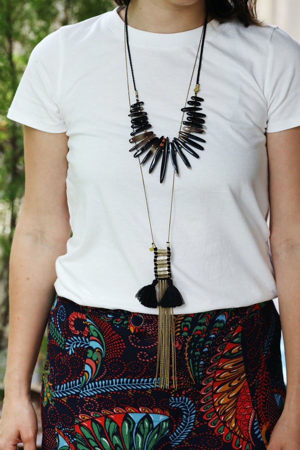 Chan Luu Brass Fringe Necklace