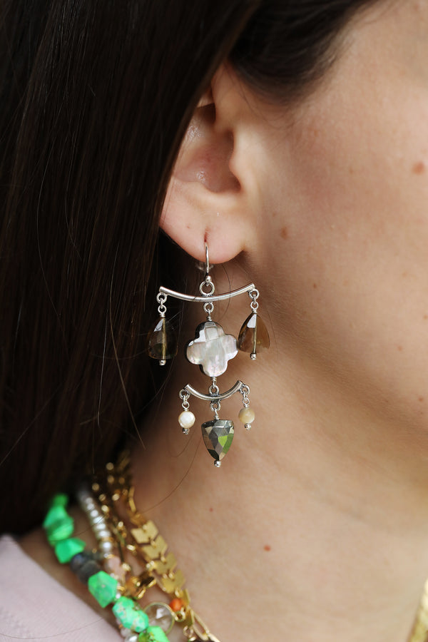 Chan Luu Quartz Chandelier Earrings