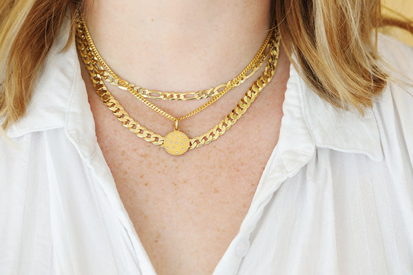 Small Gold Curb Chain