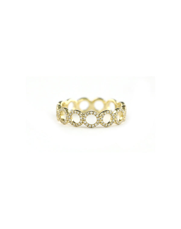14K Diamond Circle Eternity Ring