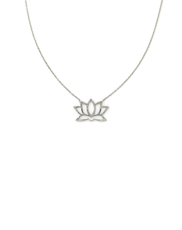 Diamond Lotus Necklace