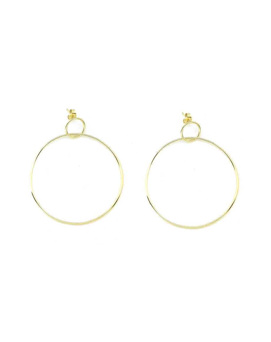 Thin Gold Door Knocker Hoops