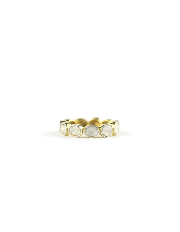 Gold Polki Diamond Eternity Ring