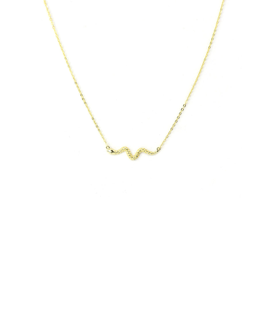 Textured Gold Snake Necklace