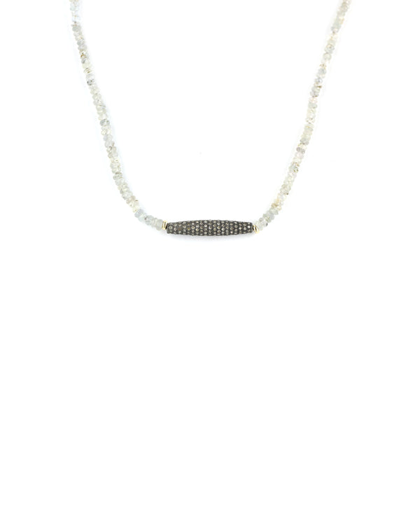 Sapphire Diamond Bar Necklace