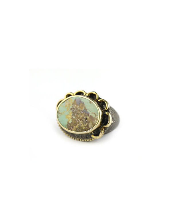 Green Turquoise Turkish Ring