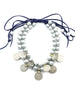 She-Vah Necklace | Gray Pearls with Vintage Afghan Coins