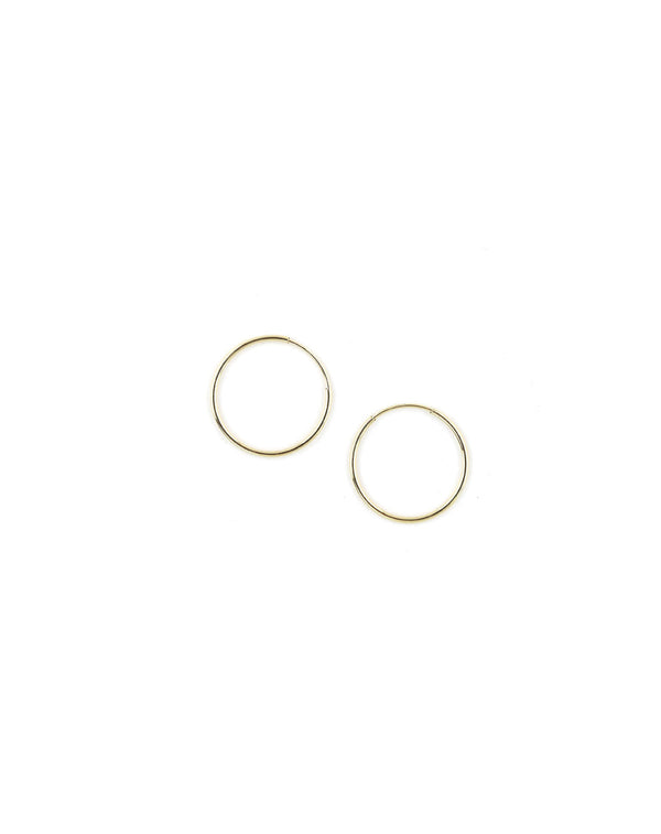 "14K Gold 1/2"" Thin Infinity Hoop"