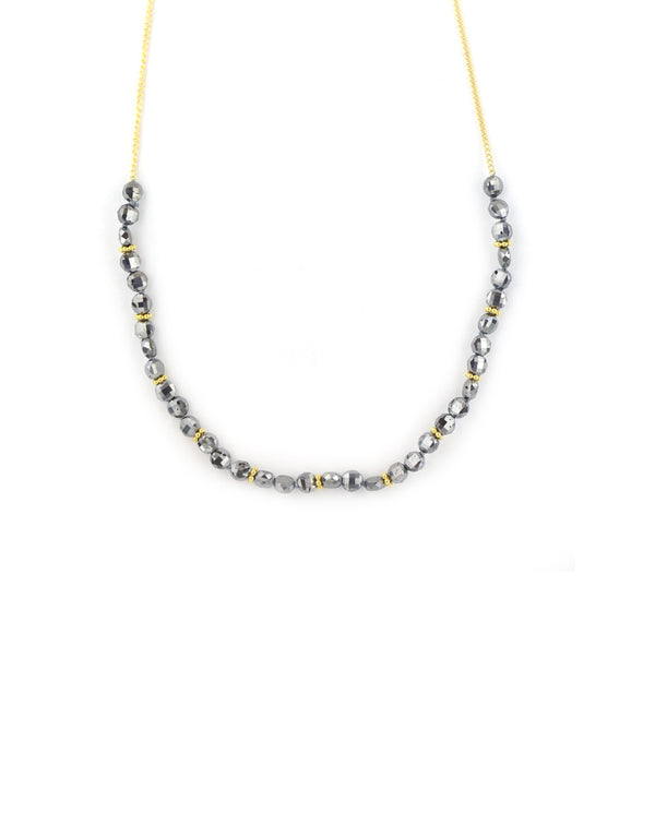 The Bauble Chain: Hematite Crystal on Curb Chain