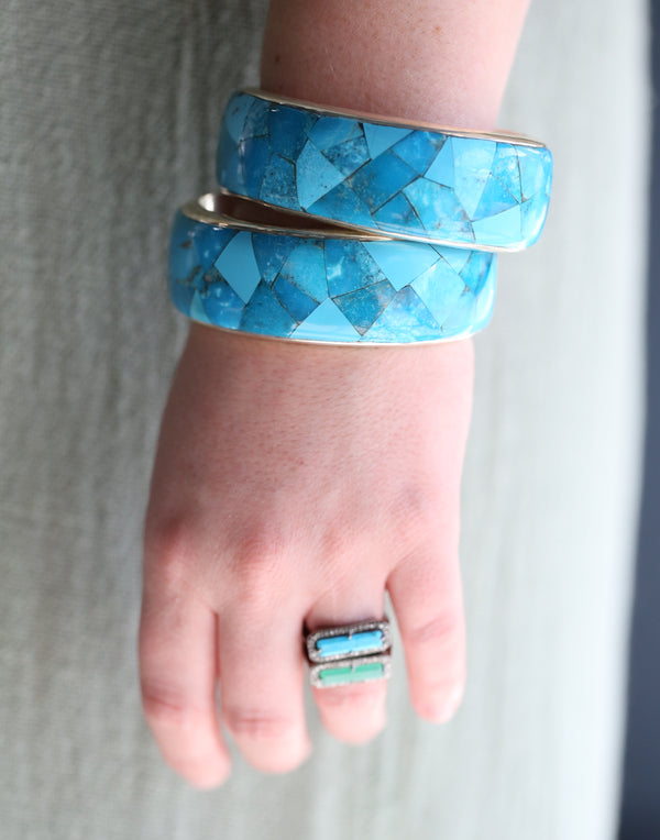 Federico Inlaid Turquoise Cuff