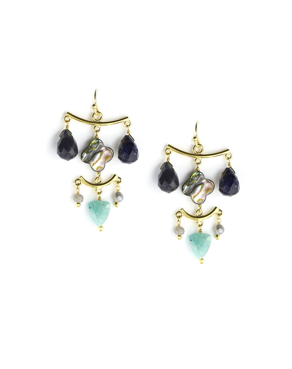 Chan Luu Iolite Chandelier Earrings