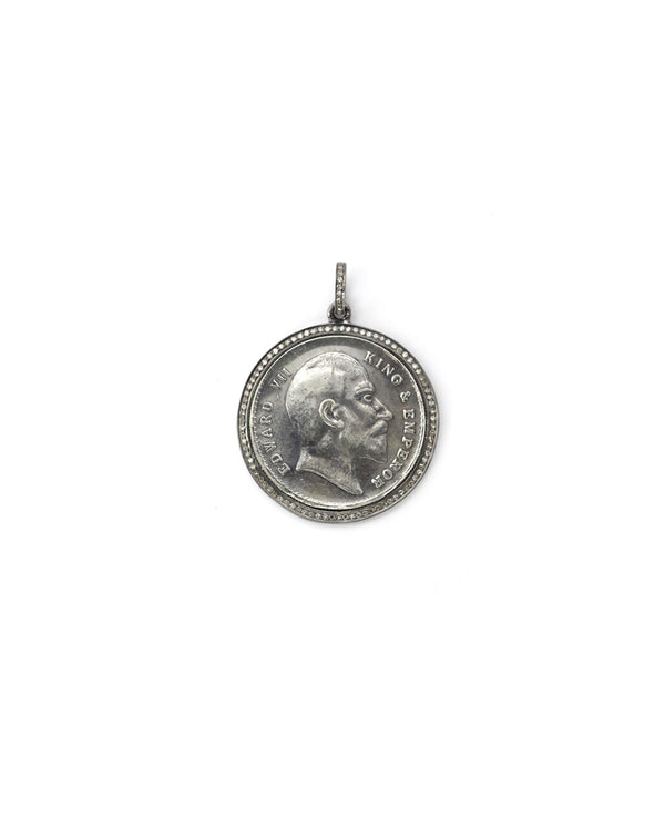 diamond coin pendant