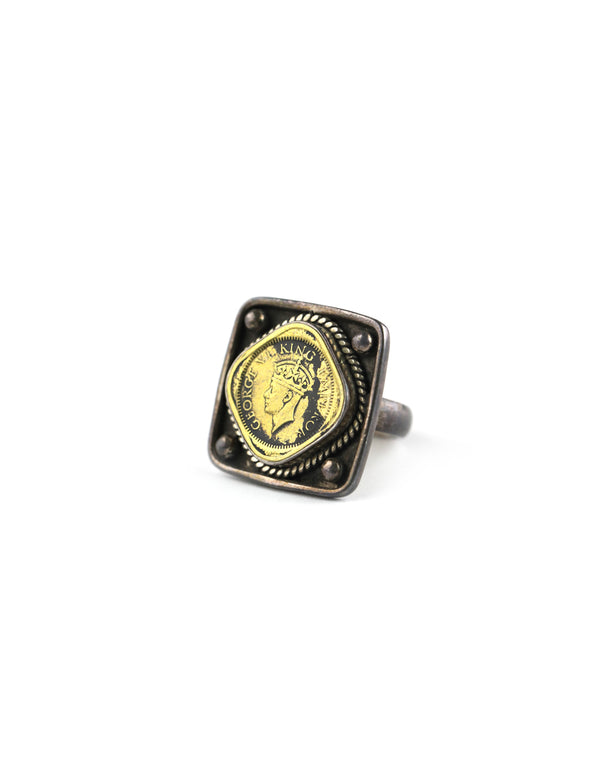 King George VI Coin Ring