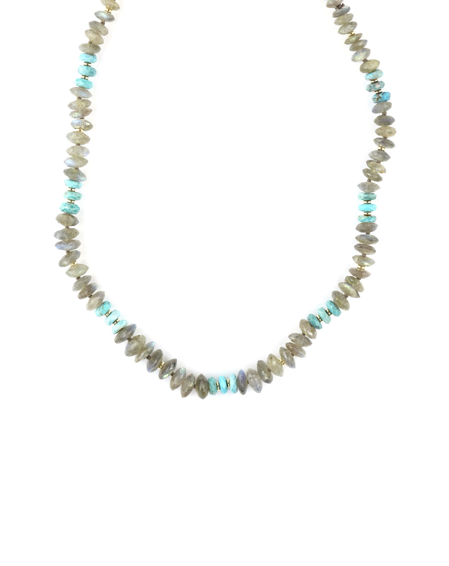 Labradorite & Turquoise Chunky Necklace
