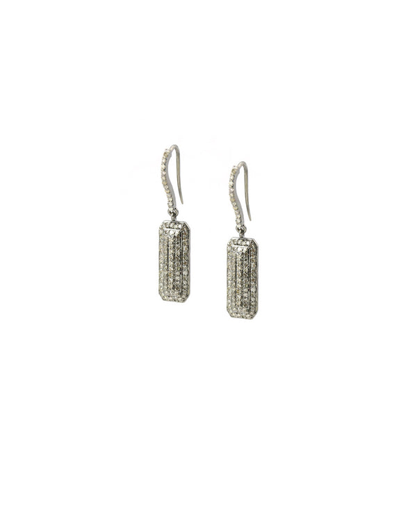 Landa Diamond Slab Earrings