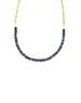 Faceted Lapis Cuban Chain Necklace