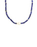 The Chloe Choker: White Pearl & Lapis Necklace