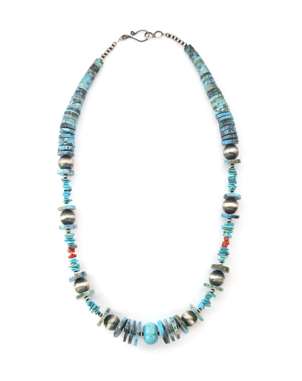 Heishi Turquoise & Navajo Pearl Necklace