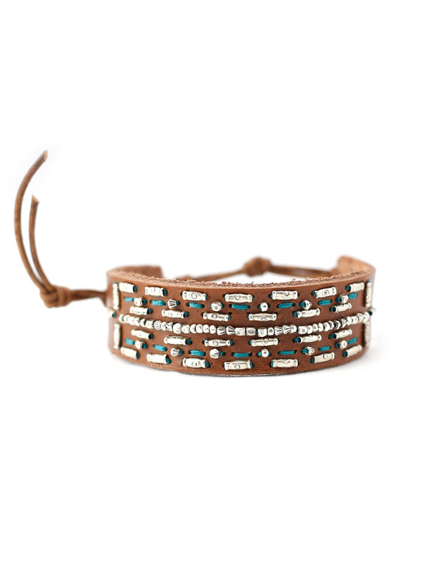 Chan Luu Turquoise Leather Cuff