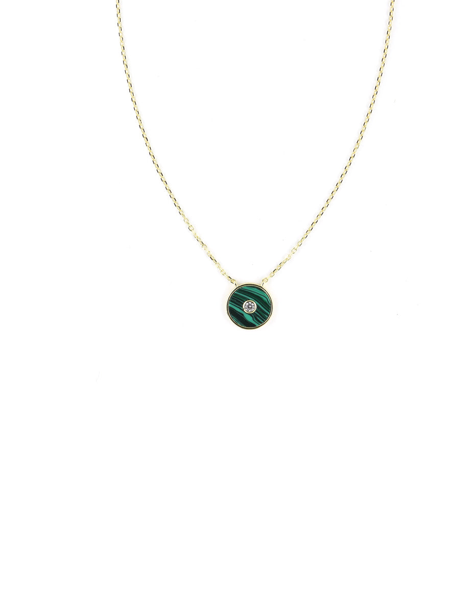 J. Landa Jewelry  We love the simplicity of this chic evil eye necklace.   colored enamel, crystal, gold-plated sterling silver 16-18""