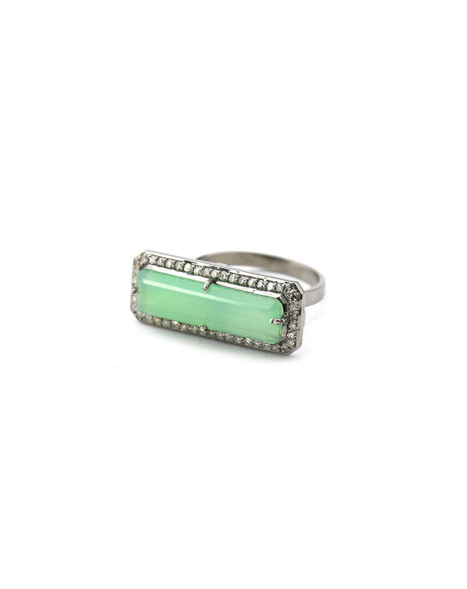 chrysoprase stacking ring