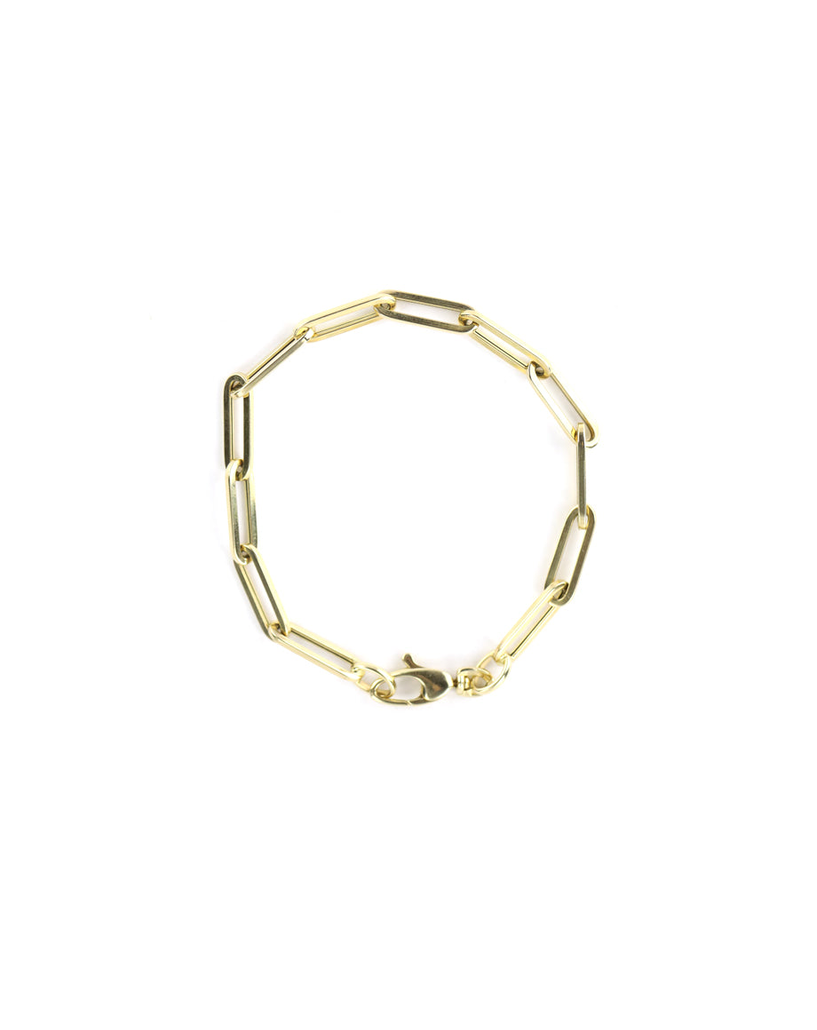 14K Gold Medium Plus Paper Clip Bracelet