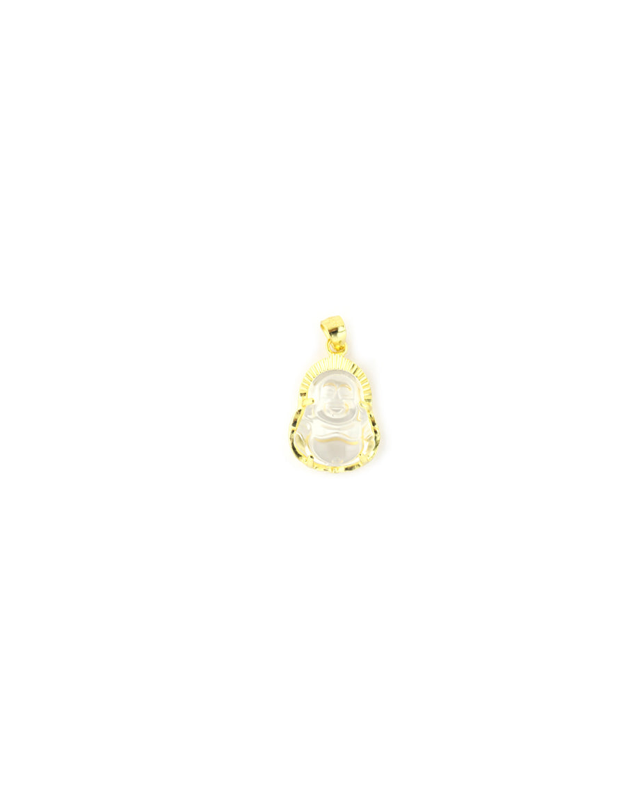 Mini Gold Crystal Buddha Charm