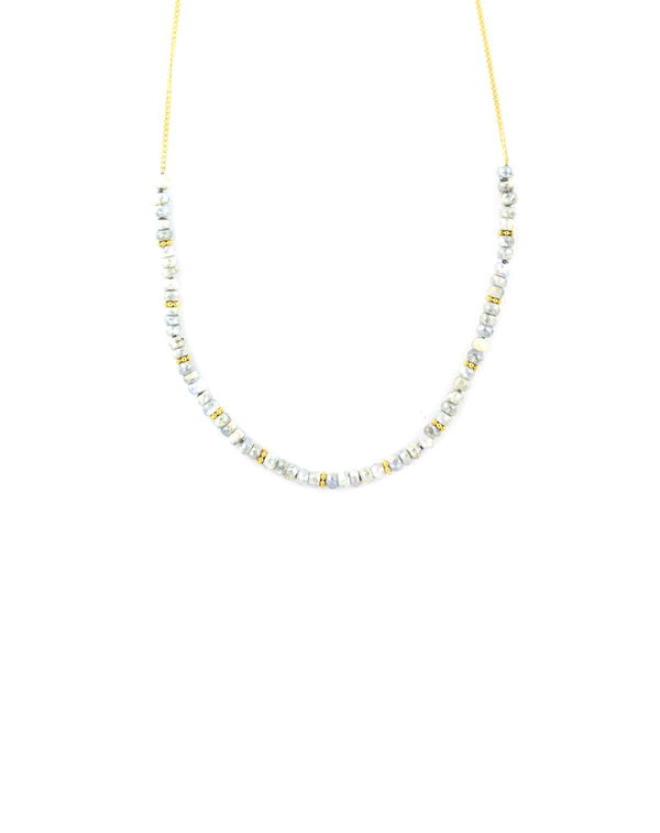 The Bauble Chain: 3mm Moonstone Curb Chain