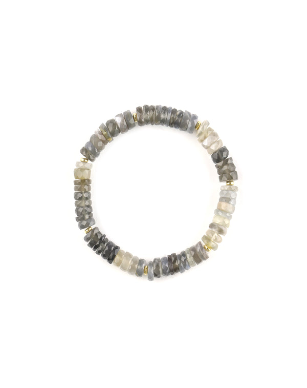 Stretchy Moonstone Bracelet