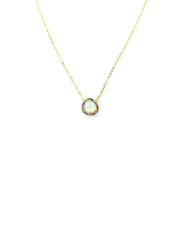 Opalite Colorful Crystal Necklace