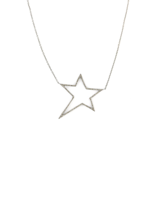 Open Star Diamond Necklace